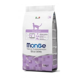 MONGE CAT Sterilized kassitoit 10kg