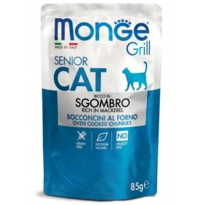 MONGE GRILL SENIOR CAT makrell 85g kott