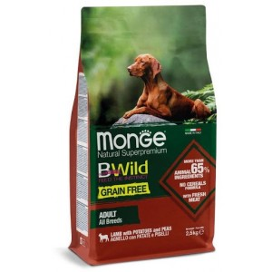 MONGE BWILD DOG GRAIN FREE LAMMAS  2,5kg