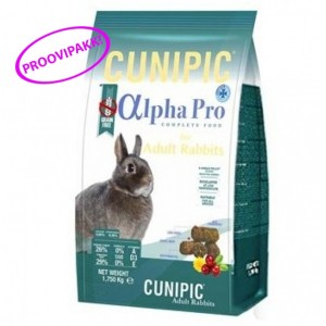 ALPHA PRO ADULT RABBIT toidu proovipakk