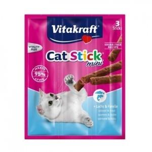 Vitakraft CAT STICK MINI lõhe&tursk 3x6g