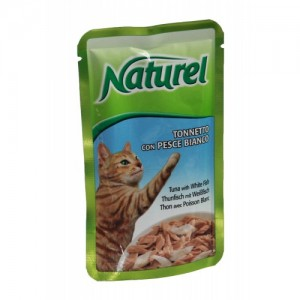 Life Cat Naturel tuun&valge kala 55gkott