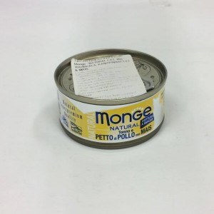 MONGE Natural Cat Kanarind & Mais 80g