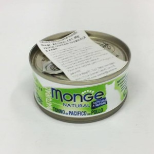 MONGE Natural Cat Tuunikala & Kana 80g