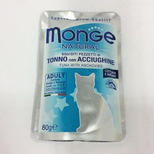MONGE Natural Cat Tuun&Anshoov 80g kott
