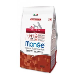 MONGE MINI AD LAMMAS&RIIS koeratoit2,5kg