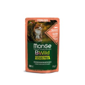 MONGE BWILD STERIL.CAT Lõhe 85g kott