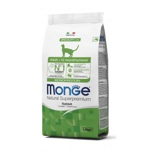 MONGE ADULT CAT JÄNES monoproteiin 1,5kg