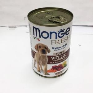 MONGE Fresh PUPPY vasikas&köögivili 400g