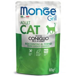 MONGE GRILL CAT küülik 85g kott
