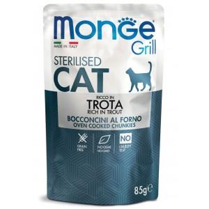 MONGE GRILL CAT STERIL. forell 85g kott