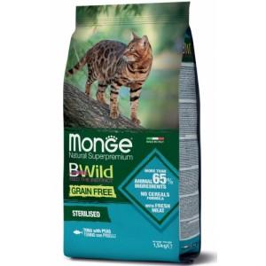 MONGE CAT BWILD STER.TUUN 1,5kg