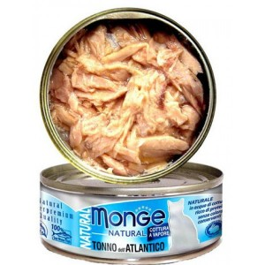 MONGE Natural Cat Atlandi Tuunikala 80g