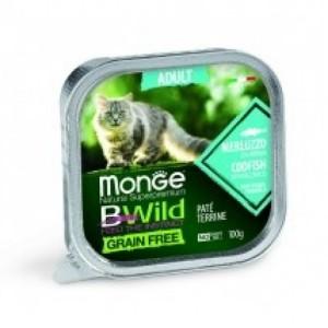 MONGE BWILD CAT Merluus 100g