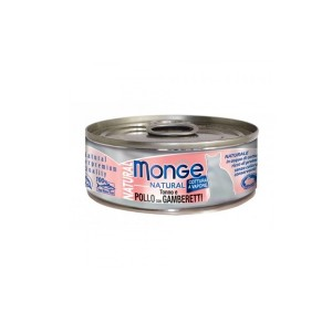 MONGE Natural Cat Kana & Krevetid 80g
